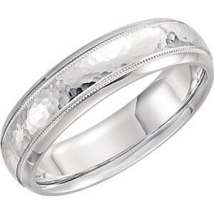 Hammered Wedding Ring