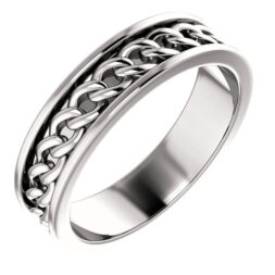 Chain Men's Wedding Ring