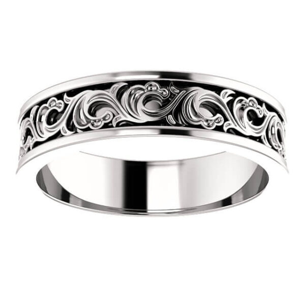 Sculptural Men's Wedding Ring