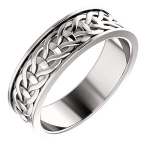 Woven Men's Wedding Ring