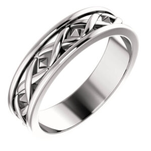 X Men's Wedding Ring