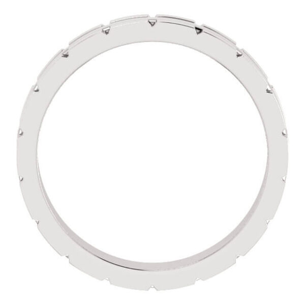 Grooved Men's Wedding Ring