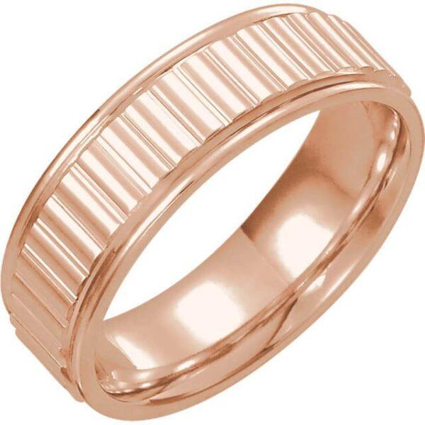 Ridged Men's Wedding Ring