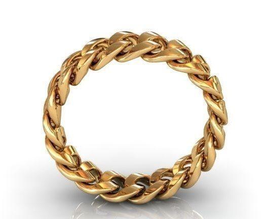 Cuban Link Wedding Ring