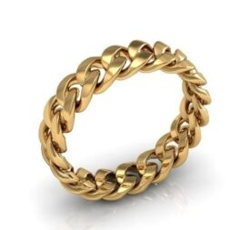 Cuban Link Wedding Ring