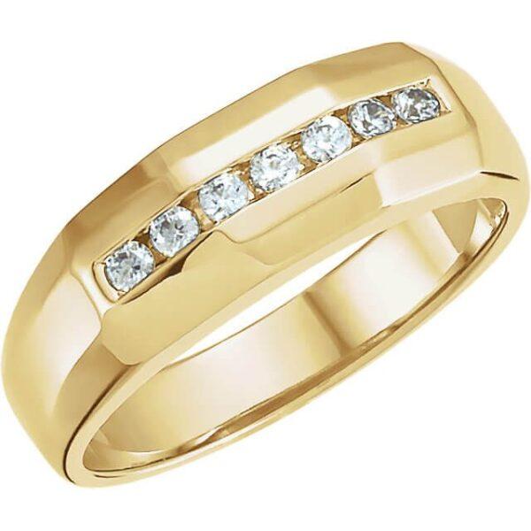 7 Stone Men's Wedding Ring