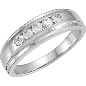 Diamond Men's Wedding Ring