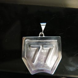 Custom Motocross Number Plate Necklace