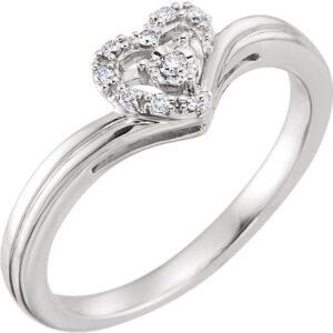 Diamond Heart Promise Ring