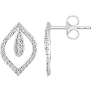 Teardrop Diamond Earrings
