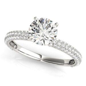 Custom Pave Engagement Ring