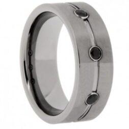 CZ Tungsten Wedding Ring