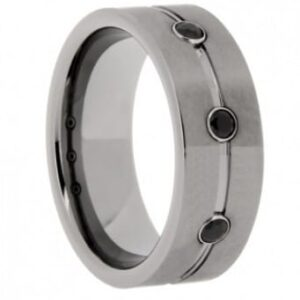 CZ Tungsten Wedding Ring