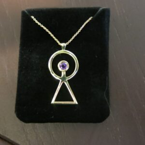 custom amethyst pendant