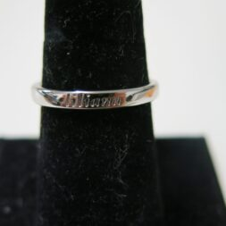 Custom Engraved Wedding Rings