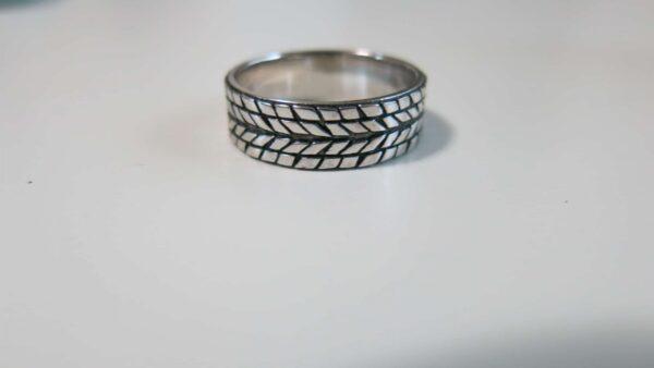 custom tire tread wedding ring