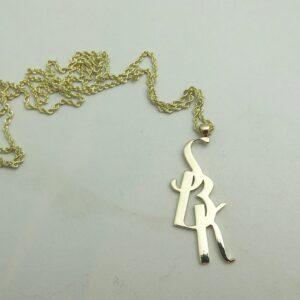 Initials Monogram Necklace