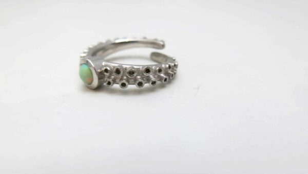 Cabochon Octopus Engagement Ring