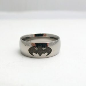 Titanium Batman Wedding Ring