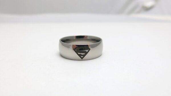 Titanium Superman Wedding Ring