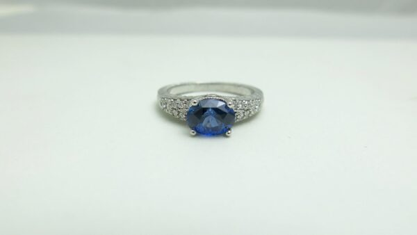 Custom Engraved Engagement Ring