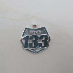 Dirt Bike Number Plate Necklace