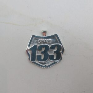 Dirt Bike Number Plate Pendant