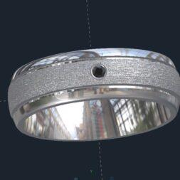 Brushed Men's Wedding Ring