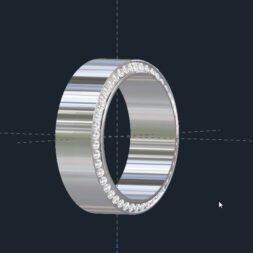 Beveled Diamond Wedding Ring