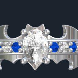 Custom Batman Engagement Rings