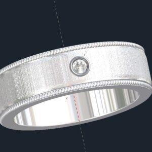 Milgrained Men's Wedding Ring