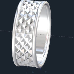 Tessellated Men's Wedding Ring