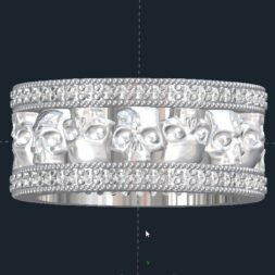 Diamond Skull Wedding Rings