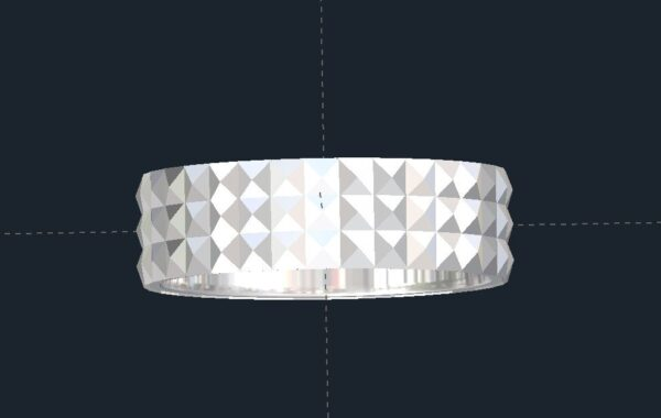 Geometric Wedding Ring