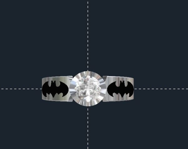 Custom Batman Engagement Ring