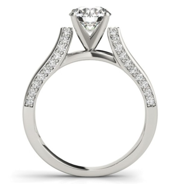 Custom Cathedral Engagement Ring