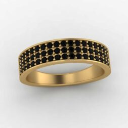 Men's Tapered Diamond Wedding Band