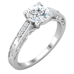 Vintage Cathedral Solitaire Ring