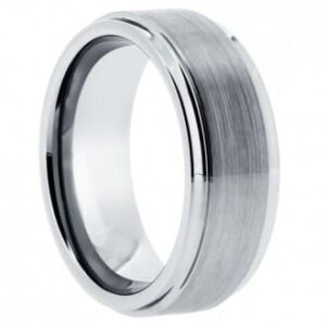 Matte Tungsten Wedding Ring