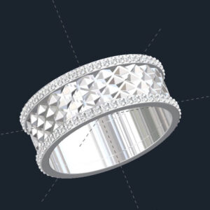 Tessellated Mens Wedding Ring