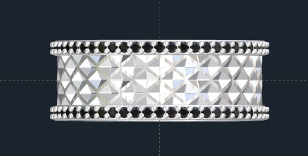 Tessellated Mens Wedding Ring