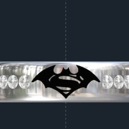 Diamond Superman Batman Ring
