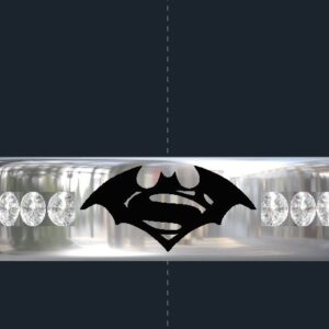 Batman and Superman Wedding Ring