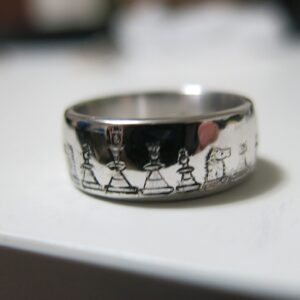 hand engraved custom wedding ring