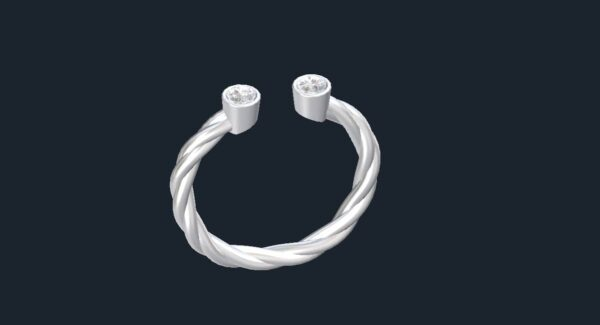 double bezel rope ring