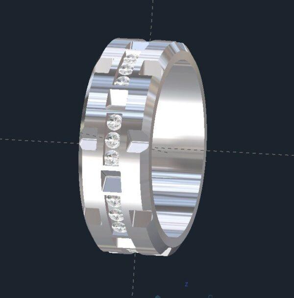 Brick Men's Diamond Wedding Ring