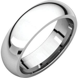 Comfort Fit Wedding Rings