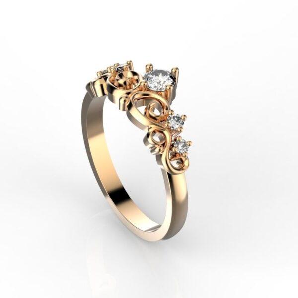 Custom Princess Crown Ring
