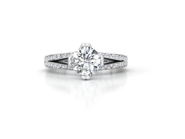 Split Shank Modern Engagement Ring