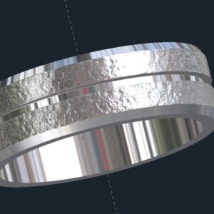 Distressed Men's Wedding Ring